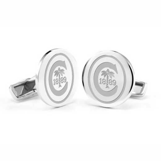 615789588146: Clemson Cufflinks in Sterling Silver