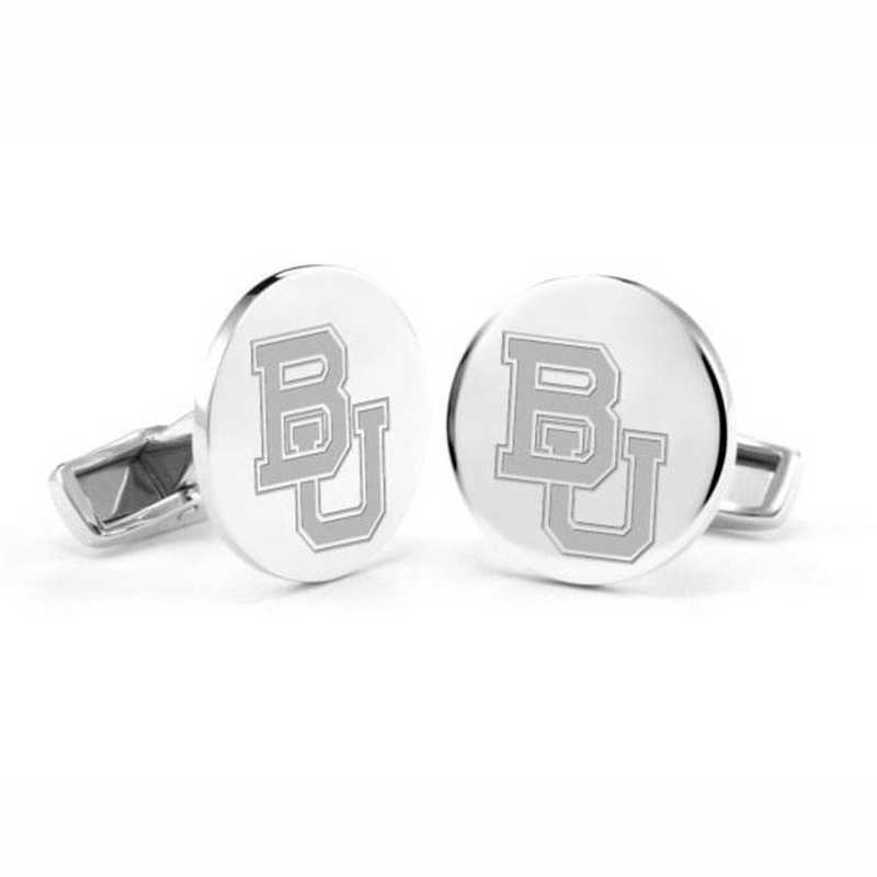 615789865537: Baylor University Cufflinks in Sterling Silver