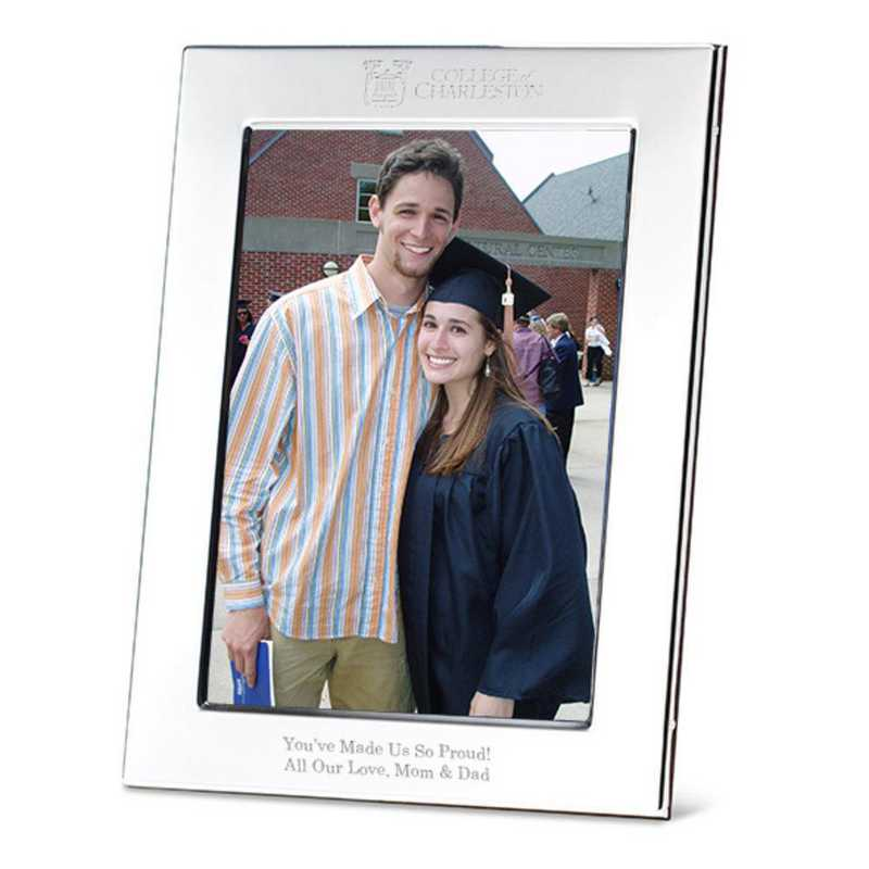 College Of Charleston Polished Pewter 5x7 Picture Frame By M Lahart Co