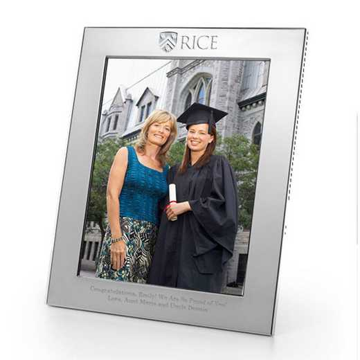 615789455868: Rice Univ plshed Pewter 8x10  Frame by M.LaHart & Co.