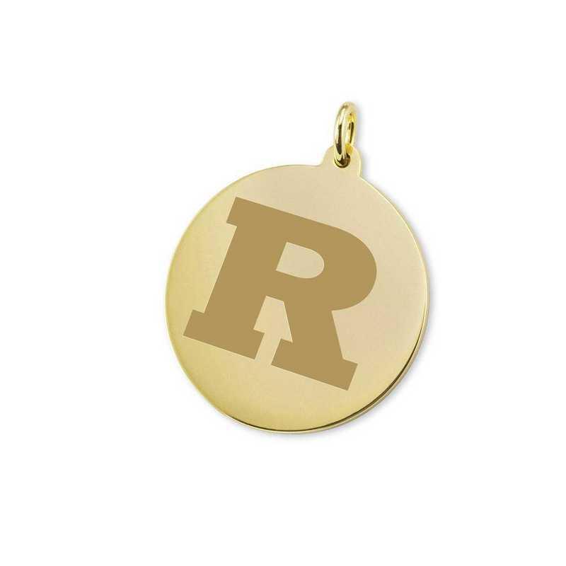 615789907725: Rutgers Univ 14K Gold Charm
