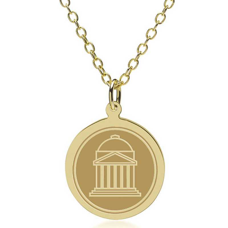 615789558965: Southern Methodist Univ 14K Gold Pendant & Chain