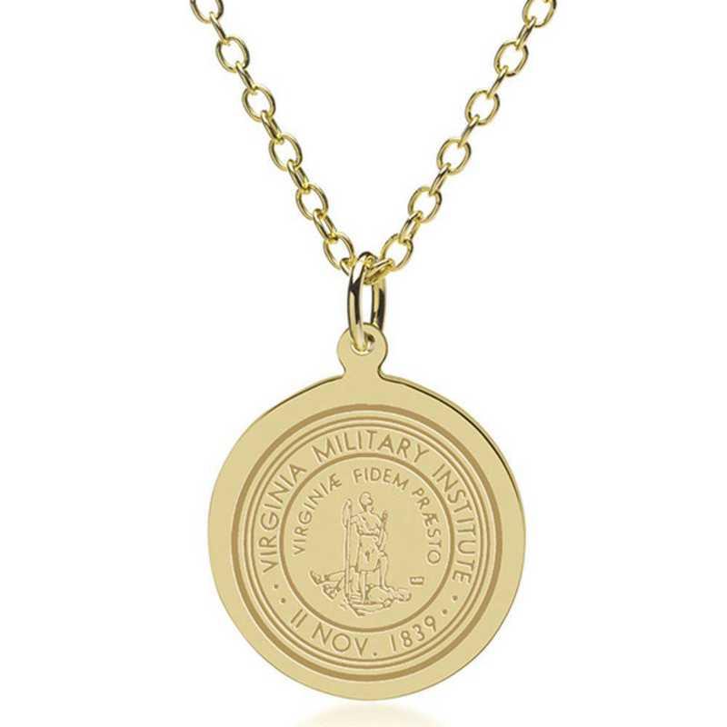 615789596998: Virginia Military Institute 14K Gold Pendant & Chain