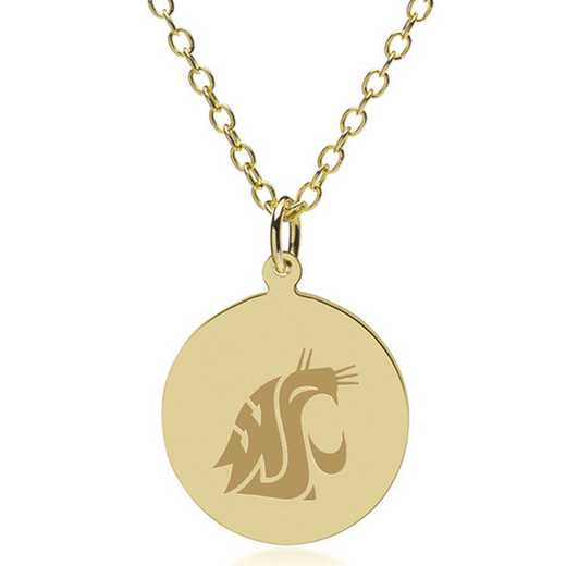 615789904342: Washington State Univ 14K Gold Pendant & Chain