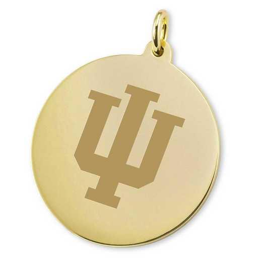 615789021636: Indiana Univ 18K Gold Charm