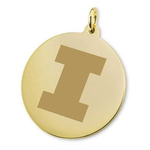615789352471: Univ of Illinois 18K Gold Charm
