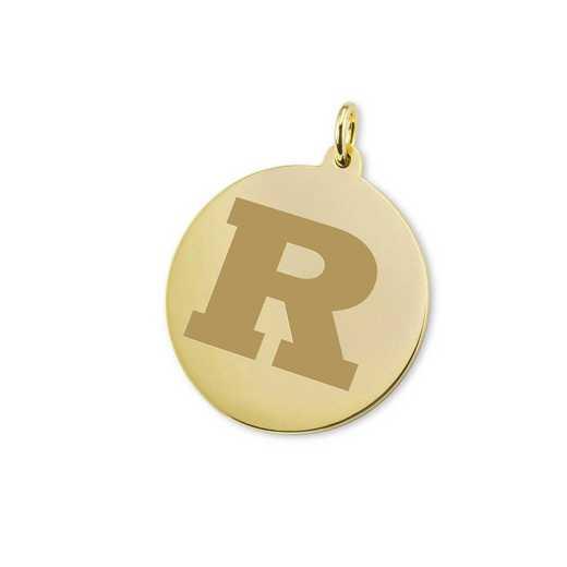 615789369035: Rutgers Univ 18K Gold Charm