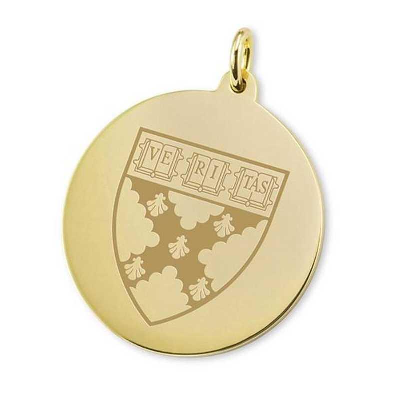 615789433637: Harvard Business School School 18K Gold Charm
