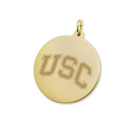 615789526025: Univ of Southern California 18K Gold Charm
