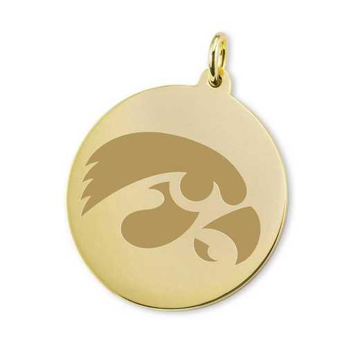 615789656906: Univ of Iowa 18K Gold Charm