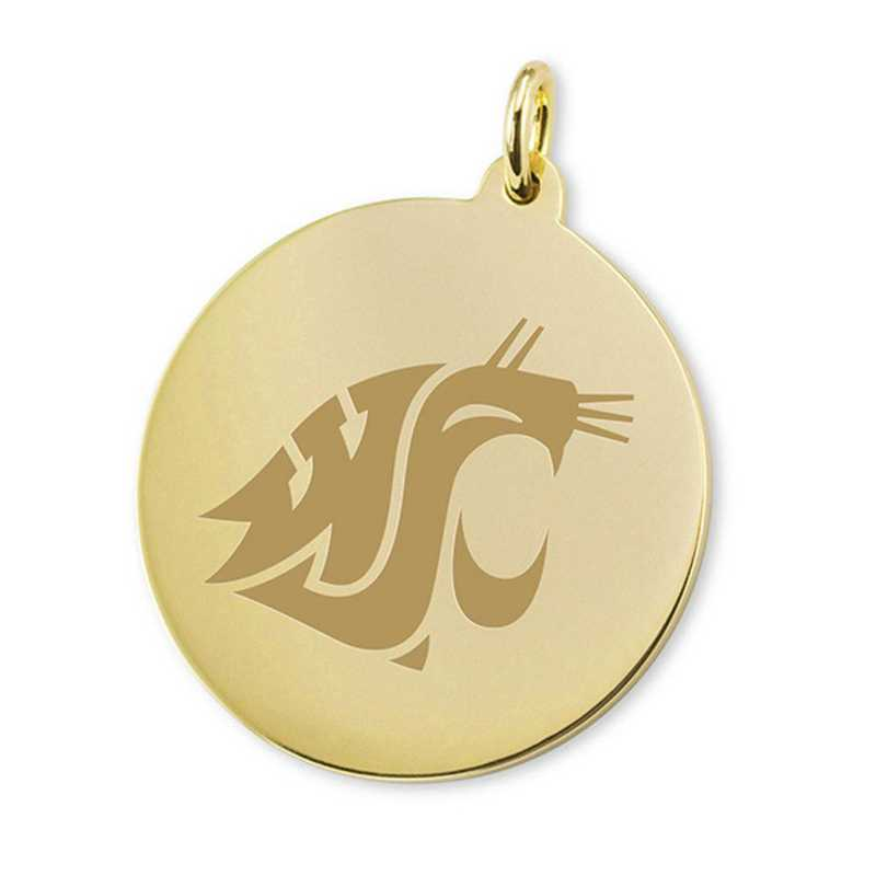 615789854357: Washington State Univ 18K Gold Charm