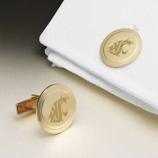615789043270: Washington State Univ 18K Gold Cufflinks