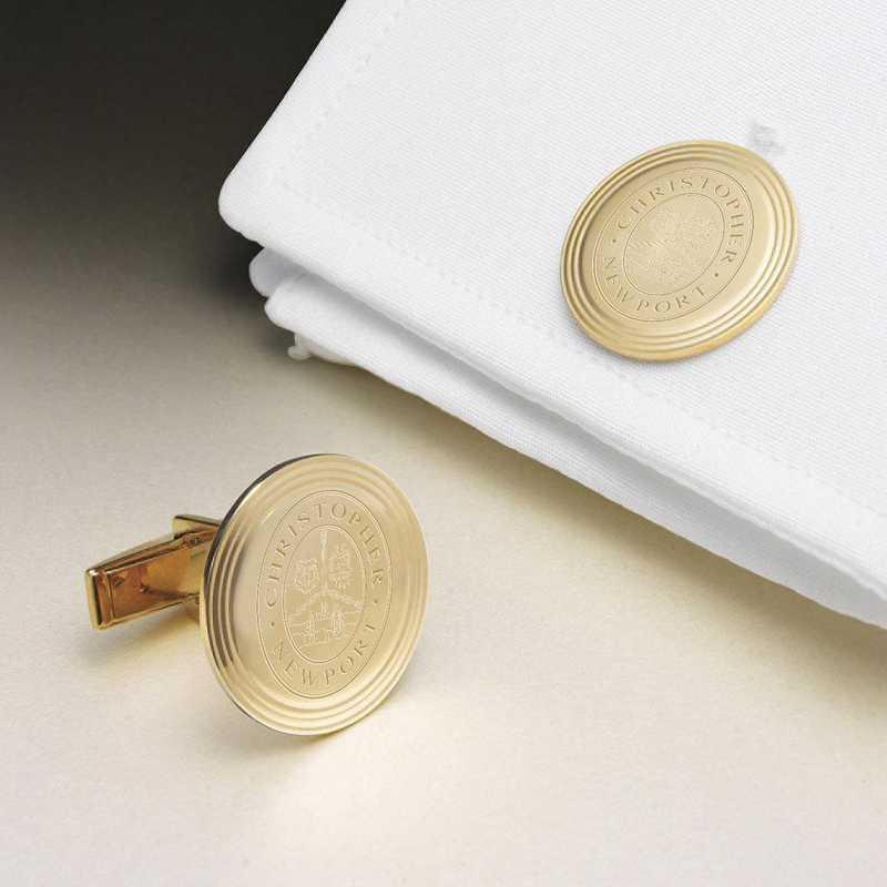 615789508540: Christopher Newport Univ 18K Gold Cufflinks