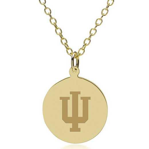615789102267: Indiana Univ 18K Gold Pendant & Chain