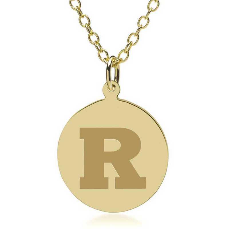 615789191339: Rutgers Univ 18K Gold Pendant & Chain