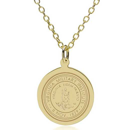 615789492870: Virginia Military Institute 18K Gold Pendant & Chain