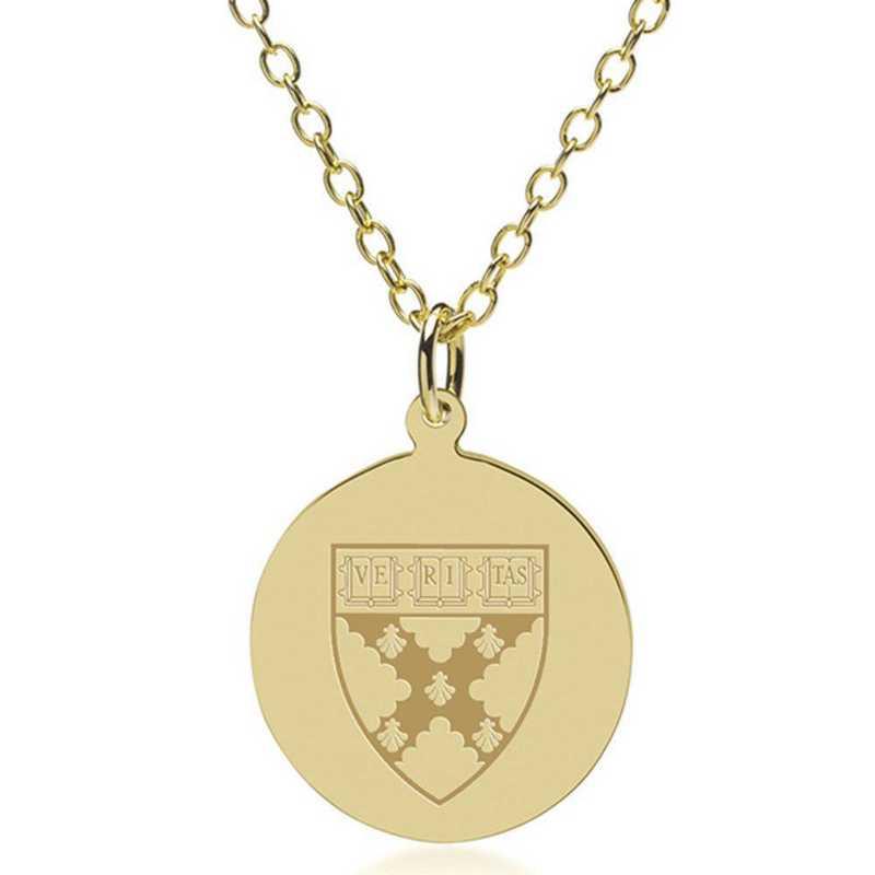 615789817697: Harvard Business School 18K Gold Pendant & Chain