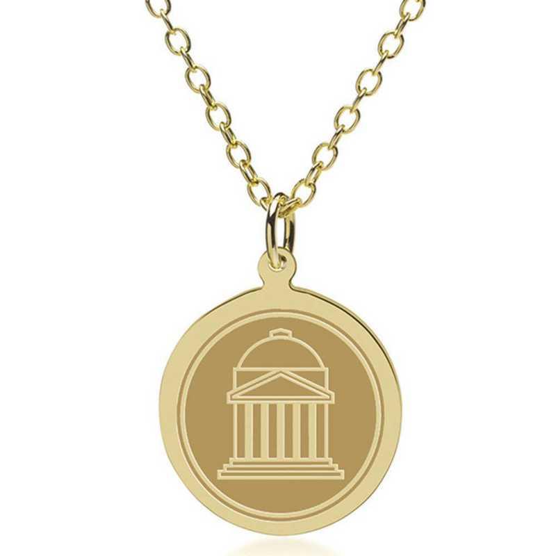 615789879688: Southern Methodist Univ 18K Gold Pendant & Chain