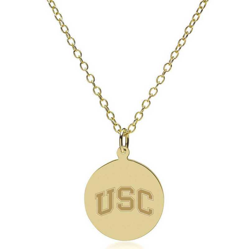 615789906148: Univ of Southern California 18K Gold Pendant & Chain