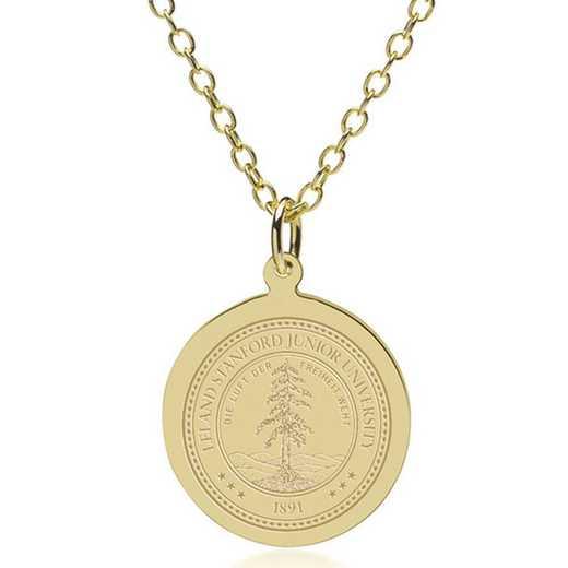 615789984887: Stanford Univ 18K Gold Pendant & Chain