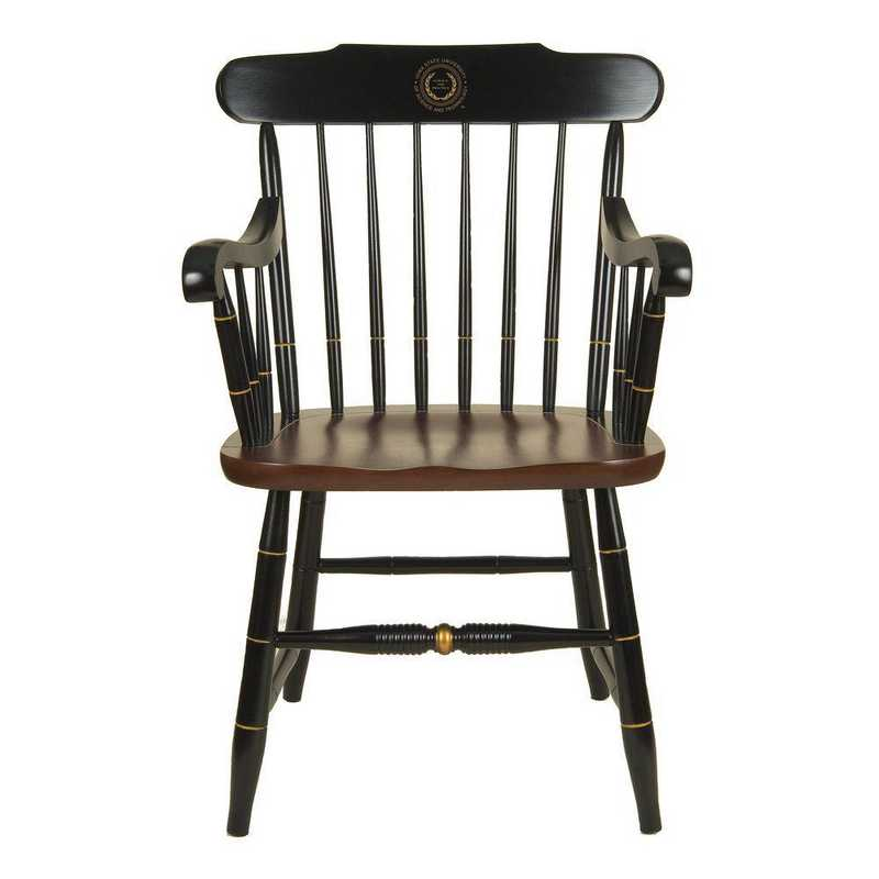 615789982302: Iowa State University Captain's Chair by Hitchcock