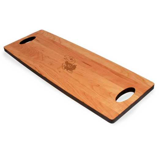 615789561736: Univ of Kansas Cherry Entertaining Board