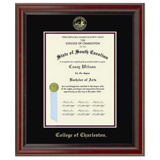 615789071136: College of Charleston Diploma Frame- the Fidelitas