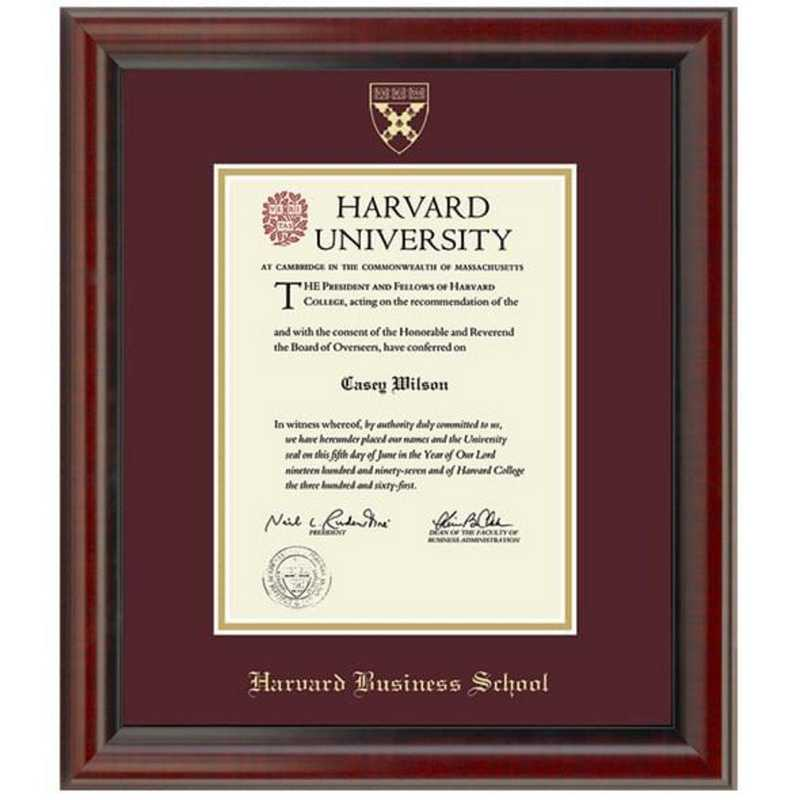 615789071549: Harvard Business School Diploma Frame- the Fidelitas
