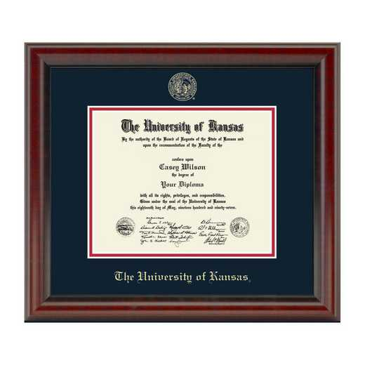 615789086628: University of Kansas Bachelors/Masters Diploma Frame