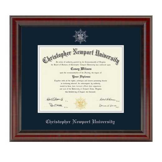615789098355: Christopher Newport University Diploma Frame- the Fidelitas