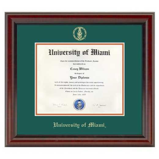 615789098676: University of Miami Diploma Frame- the Fidelitas