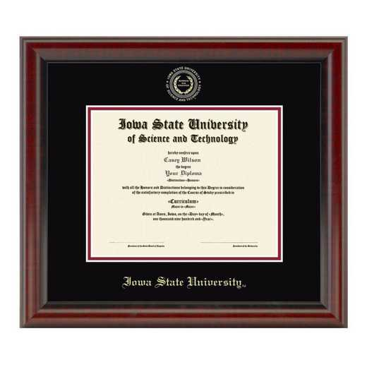 615789129943: Iowa State University Masters Diploma Frame- the Fidelitas