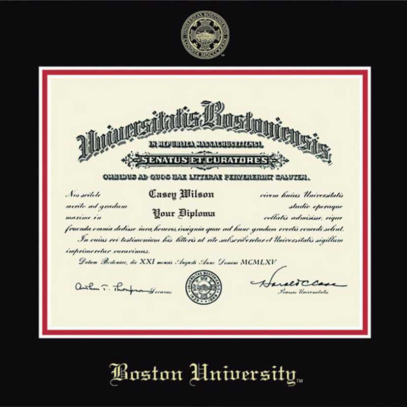 The Fidelitas LA HART Boston University Diploma Frame M
