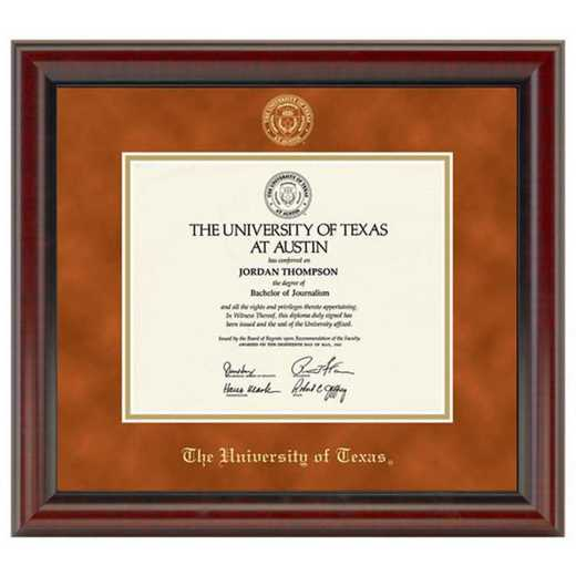 615789220985: University of Texas Diploma Frame- the Fidelitas