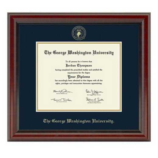 615789370536: George Washington University Diploma Frame- the Fidelitas