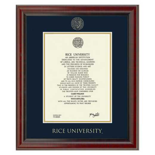 615789382416: Rice University Diploma Frame, the Fidelitas