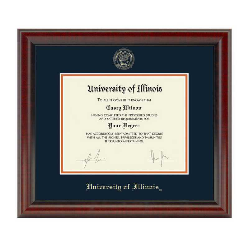 615789546900: University of Illinois Diploma Frame- the Fidelitas