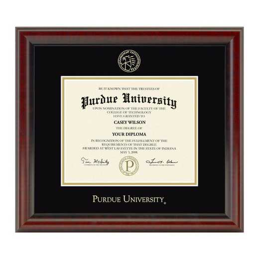 615789552376: Purdue University Masters/PhD Diploma Frame- the Fidelitas
