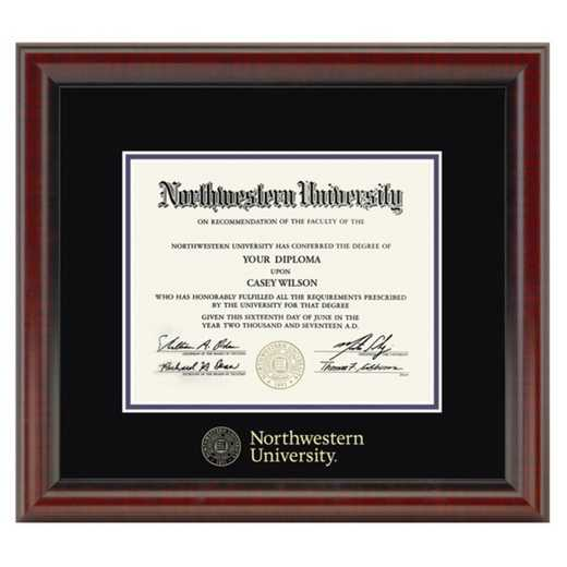 615789657293: Northwestern University Diploma Frame- the Fidelitas