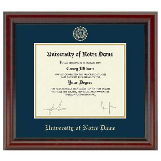 615789683339: University of Notre Dame Diploma Frame- the Fidelitas