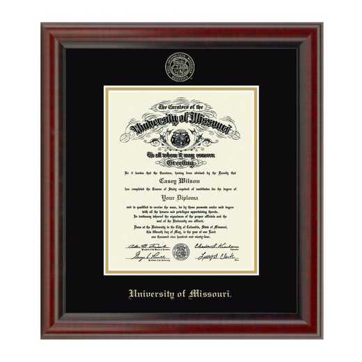 615789852032: University of Missouri PhD Diploma Frame- the Fidelitas