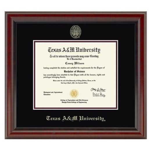 615789893097: Texas A&M University Diploma Frame- the Fidelitas