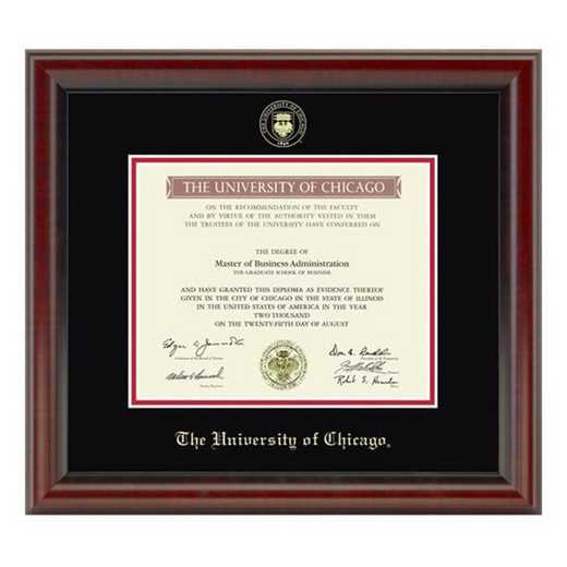 615789897927: University of Chicago Diploma Frame- the Fidelitas
