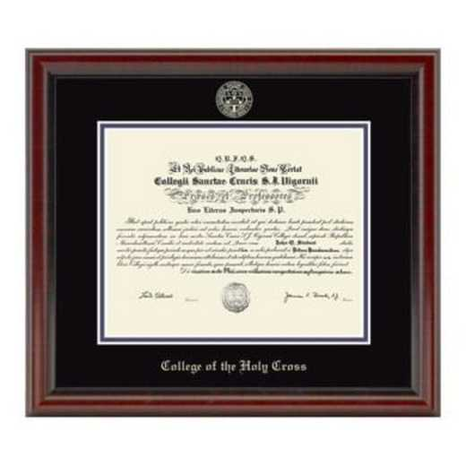 615789908456: Holy Cross Diploma Frame- the Fidelitas
