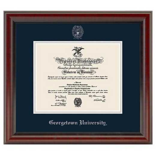 615789920274: Georgetown University Diploma Frame- the Fidelitas