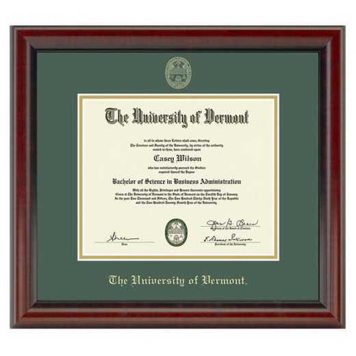 615789975724: University of Vermont Diploma Frame- the Fidelitas