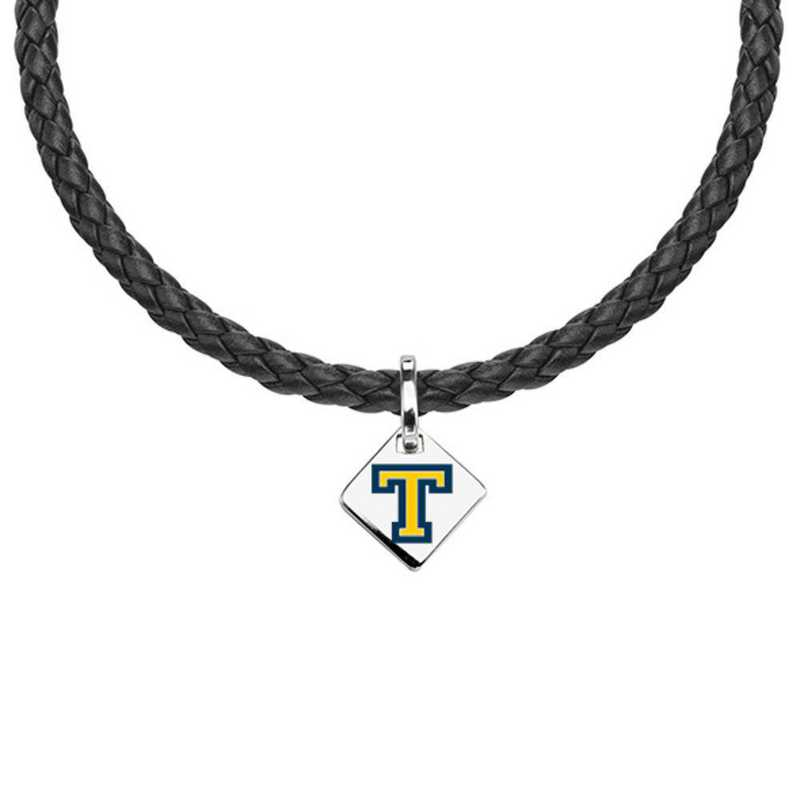 615789206972: Trinity College Leather Necklace with SS Tag