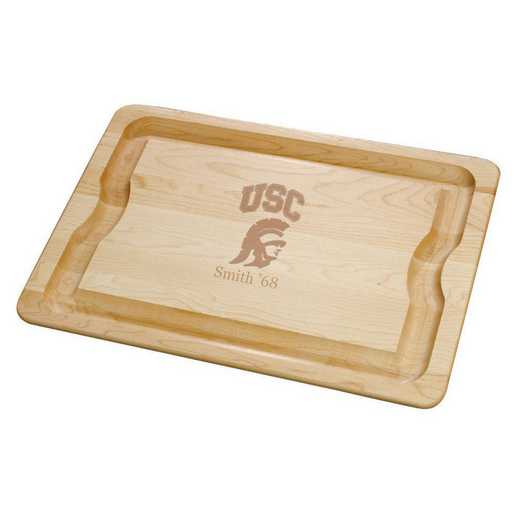 615789150992: Univ of Southern California Maple Cutting Board