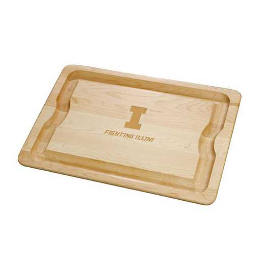 615789203438: Univ of Illinois Maple Cutting Board
