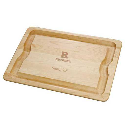 615789553854: Rutgers Univ Maple Cutting Board